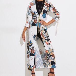 Floral Print  Longline Kimono / Duster